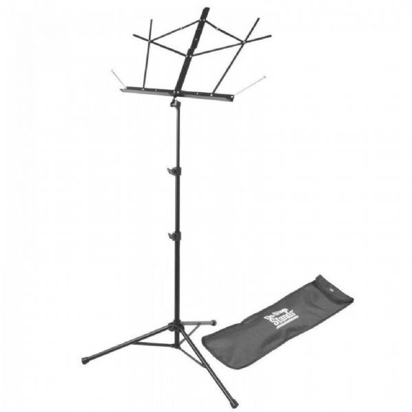 On Stage Stands - SM7122BB Compact Sheet Music Stand with Bag - Black